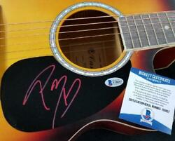 Post Malone Signed Full Size Acoustic Guitar Rapper Autograph 2 Beckett Bas Coa