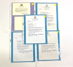 Five Letters From Governor George C Wallace Alabama Political Memorabilia 72-86