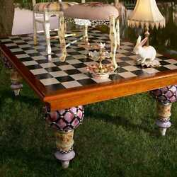 Mackenzie Childs Train Table - New Perfect Condition