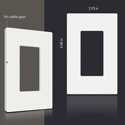 7 1-gang Screwless Decorator Wall Plates Child Safe Outlet Covers White