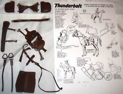 Complete Set Black Military Tack And Manual Marx Johnny West Horse Saddle Custer