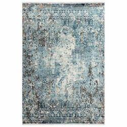 Abani Azure 5and0393w X 7and0396d Azr180a Contemporary Blue And Ivory Abstract Area Rug