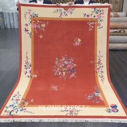 Yilong 5.5and039x8and039 Handknotted Wool Area Rug Chinese Art Deco Home Decor Carpet