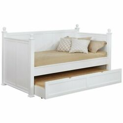 Bowery Hill Twin Daybed With Trundle In White