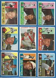 1960 Topps Baseball Cards - 225 Ct. Vintage Card Lot - Lots Of Rc's Incld. Ex+