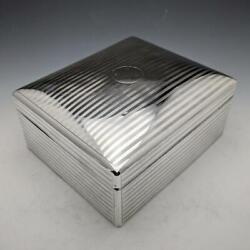 1916 Vintage Sterling Silver Cigar Tobacco Case Box Stuart Clifford And Co London