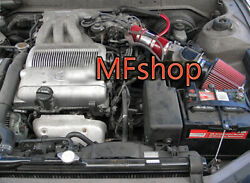 Red For 1992-1996 Toyota Camry 3.0l V6 Le Dlx Xle Dx Se Air Intake Kit + Filter