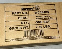 Buyers Products Wc24483 Wheel Chock 4 X 4 X 8 Inches