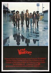 The Warriors ✯ Cinemasterpieces Rare Uk Movie Poster Gang Violence Fighting 1979