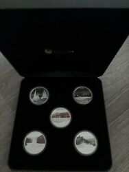 2010 Tuvalu 1 Great River Journeys Five-coin 1 Oz 5-coin Set Silver Proof Color