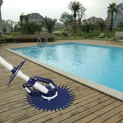 Automatic Swimming Pool Cleaner Set Clean Vacuum Inground Above Ground W/ Hoses