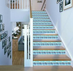 3d Blue Ice Tray 520na Stair Risers Decoration Photo Mural Decal Wallpaper Fay