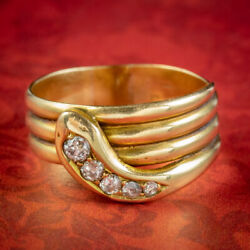 Antique Victorian Diamond Snake Ring Dated 1900