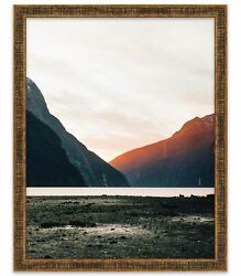 11x17 Stately Gold Wood Picture Frame - With Acrylic Front And Foam Board Backin