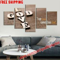 Love God Christian Jesus Quote Canvas Painting Photo Print Wall Art Home Decor
