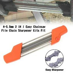 4-5.5mm 2 In 1 Easy Chainsaw File Chain Sharpener Kits Fit Stihl F1