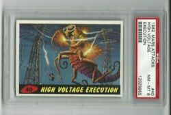 1962 Topps-mars Attacks - High Voltage Execution 40 - Psa 8 Nm-mt