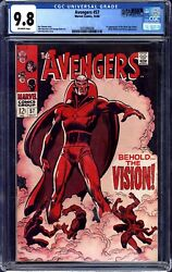 Avengers 57 Cgc 9.8 1st Vision Highest Graded 1 Of 13 Universal Qes Certified