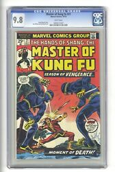 Master Of Kung Fu 21 Cgc 9.8 - Highest Graded - Shang Chi