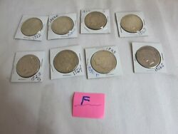 Lot Of 8 Silver Peace Dollars 1 Each 1922-1922s,1922d-1923s,1923,1924,1925,1926s