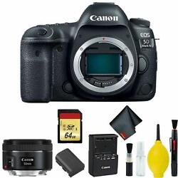Canon Eos 5d Mark Iv Dslr Camera Body Only 3 Piece Filter Kit Intl Model W/can