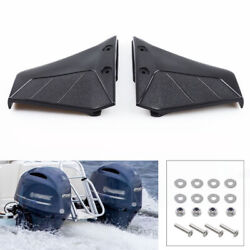 Pair Boat Motor Hydrofoil Stabiliser Engine Component For 4‑50hp Outboard Black