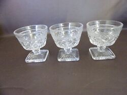 Set Of Three Cape Cod Clear Sundae Dishes By Imperial Glass-ohio