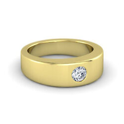 0.30 Carat Diamond Ring For Mens 14k Solid Yellow Gold Band Size 9.5 10 11 12 13