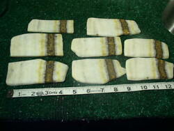 8 Orange And Whitelace Onyx Slabs 1.75 Pounds Lbs Lapidary Rough