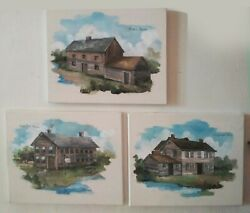 Chicago's First Three Establishments, Wolf Point Paintings, Historical