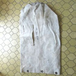 Vintage Navy White Duffle Military Canvas W/handle Personal Gear