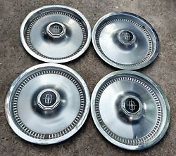 Set Of 4 Vintage Oem 1975-1981 Lincoln Town Car Mark Vi 15 Hubcaps Wheel Covers