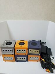 Nintendo Gamecube Console Only Black Orange Violet Silver Japanese Only