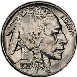 1935 Buffalo Nickel Pcgs Ms67+ Gold Shield And Trueview - Population 42