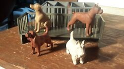 Marx 50s Pet Shop Dogs W/show Display/pens Playset Accessories
