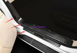 Carbon Fiber Door Sill Scuff Welcome Pedal For Toyota Land Cruiser Lc200 08-2021