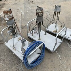 Lot Graco Bulldog Pumps With Attached Rolling Carts Lot Of 3