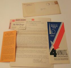 Lot 1940 Ny World's Fair, Sealtest, Dairy, Louisville Ky, Pass Routes Map
