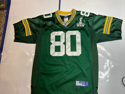 Donald Driver Green Bay Packers Onfield Jersey Super Bowl 45 Patch Sewn Youth M