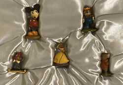 Disneyland Park Disney Mice Hand Painted Pewter Miniatures Mickey Mouse