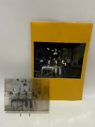Antique Glass Plate Photo Negative Wealthy Family Sailor And Dog At Table Vintage