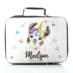 Personalised Lunch Bag Customise With Name Animal Print Dinosaur/cow/llama/pig