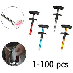 1-100 Lot Fish Hook Remover Fishing Tool T-handle Extractor Tackle Easy Pullers