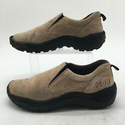 Gbx Mens 9m Trail Climber Slip On Hiking Sneakers Taupe Suede Leather Comfort
