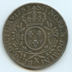 Louis Xv 1715-1774 Ecu Of Branches D And039ol Olivier 1732 X Amiens