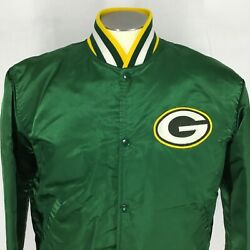 Vintage Sz L Satin Jacket Starter Not Proline Green Bay Packers Quilted 70s 80s