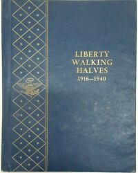 Complete Collection/walking Liberty Half Dollars 1916-47 Pds In Whitman Albums