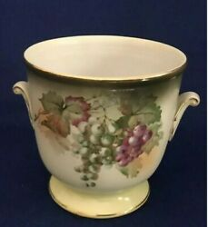 Vintage Andrea By Sadek Wine Ice Bucket Pothand Painted Grapes Japan