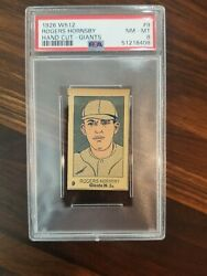 1926 W512 9 Rogers Hornsby Psa 8 Hof Nm-mt Extremely High Grade Giants Version