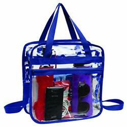 Clear Bag Stadium Approved Tote with Handles Double Zippers Adjustable Straps $16.71